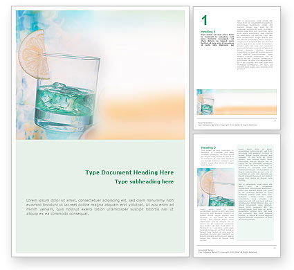 Drink Word Template, 01594, Food & Beverage — PoweredTemplate.com
