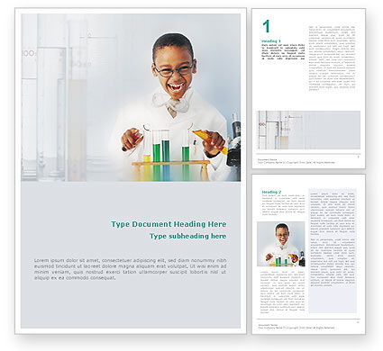 Education & Training: Chemistry Experiment Word Template #01598