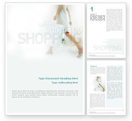 Business Concepts: Women On Shopping Word Template #01607