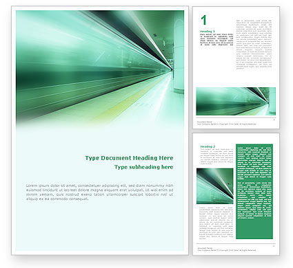 Business Concepts: Speed up Word Template #01617