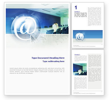 Internet Conference Word Template, 01619, Telecommunication — PoweredTemplate.com