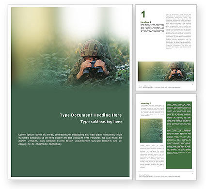 Military Word Template, 01629, Military — PoweredTemplate.com