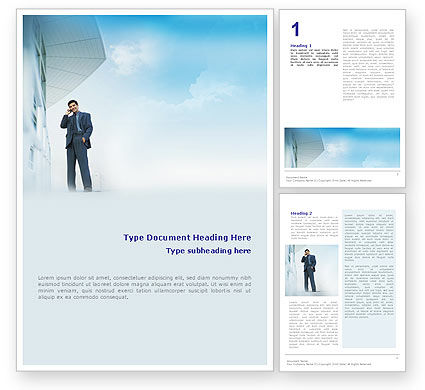 Business Talk Outdoor Word Template, 01643, Business — PoweredTemplate.com
