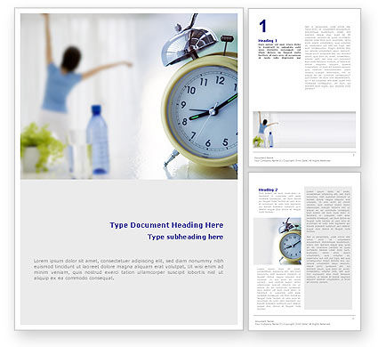 Morning Exercises Word Template, 01644, Sports — PoweredTemplate.com