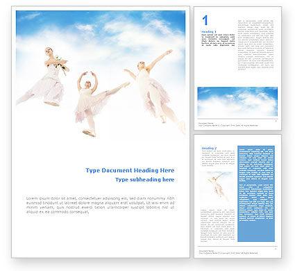 Art & Entertainment: Flying Ballerinas Word Template #01646