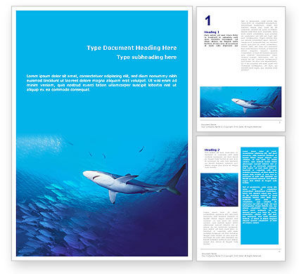 Nature & Environment: Ocean Wildlife Word Template #01649