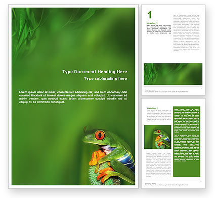 Frog Word Template, 01658, Agriculture and Animals — PoweredTemplate.com