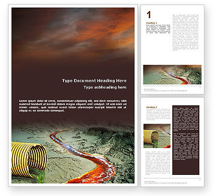 Chemical Pollution Word Template, 01659, Nature & Environment — PoweredTemplate.com