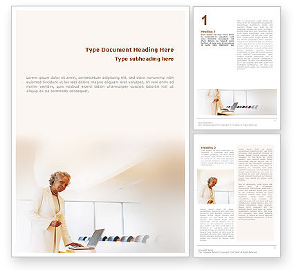 Business: Preparing Presentation Word Template #01660