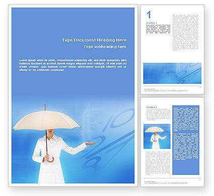 Business Concepts: Weather Forecast Word Template #01663