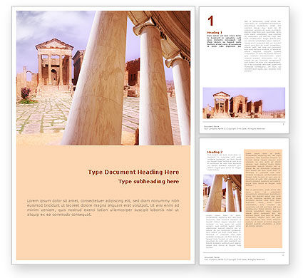 Ancient Greece Word Template, 01670, Construction — PoweredTemplate.com