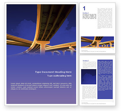 Road Interchange Word Template, 01673, Construction — PoweredTemplate.com