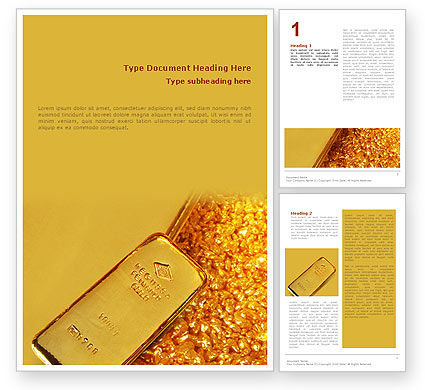 Gold Word Template, 01675, Financial/Accounting — PoweredTemplate.com