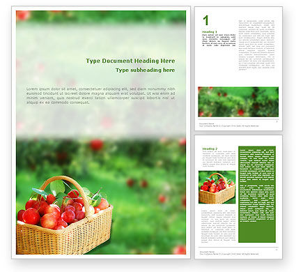 Garden Word Template, 01676, Food & Beverage — PoweredTemplate.com