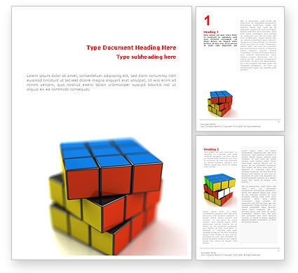 Rubik's Cube Word Template, 01683, 3D — PoweredTemplate.com
