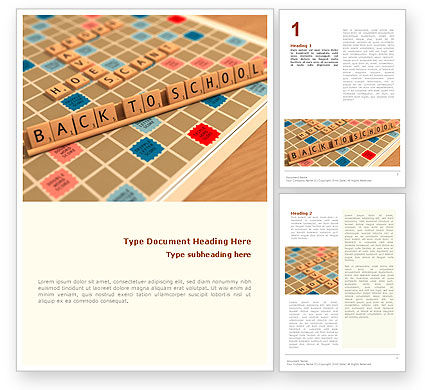 Scrabble Word Template, 01686, 3D — PoweredTemplate.com
