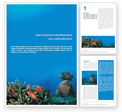 Nature & Environment: Coral Reef Word Template #01691