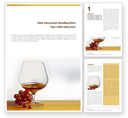 Food & Beverage: Brandy Word Template #01692