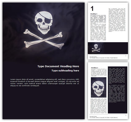 Flags/International: Modelo do Word - bandeira dos piratas #01693