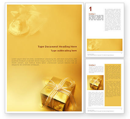 A Gift For Christmas Word Template, 01694, Holiday/Special Occasion — PoweredTemplate.com