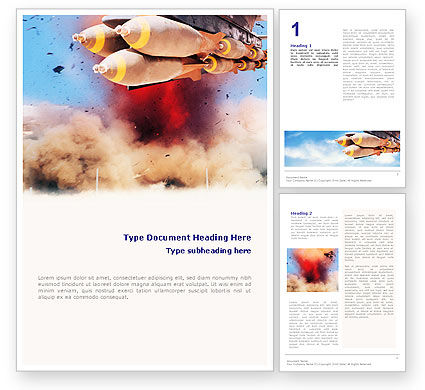 Air Force Bombing Word Template, 01696, Military — PoweredTemplate.com