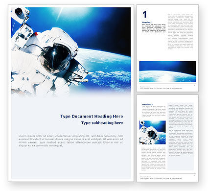 Careers/Industry: Astronaut Word Template #01702