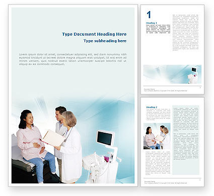 Obstetric Word Template, 01707, Medical — PoweredTemplate.com