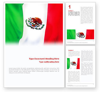 Flags/International: Mexican Flag Word Template #01716
