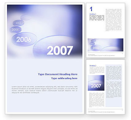 Business Concepts: Year 2007 Word Template #01723