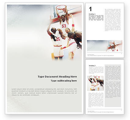 Sports: Basketball Game Word Template #01724
