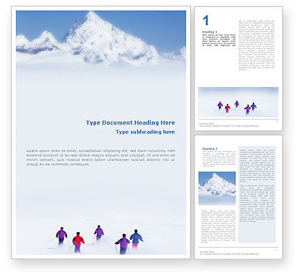 Sports: Skiing in Alps Word Template #01726