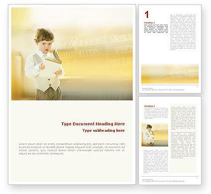 Reading Word Template, 01732, Education & Training — PoweredTemplate.com