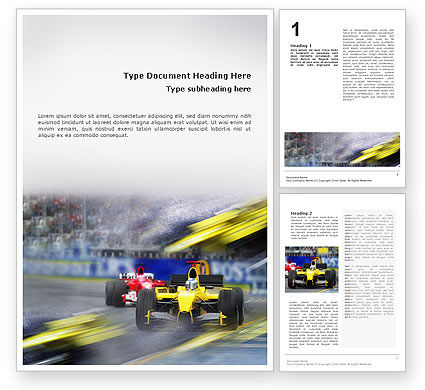 Auto Racing Word Template, 01744, Sports — PoweredTemplate.com