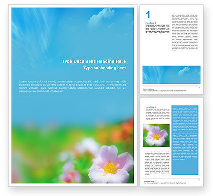 Nature & Environment: Bloom Word Template #01746
