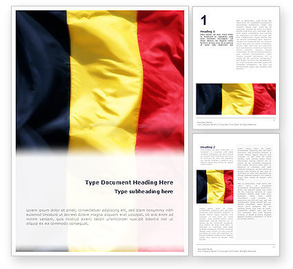 Flags/International: Belgian Flag Word Template #01751