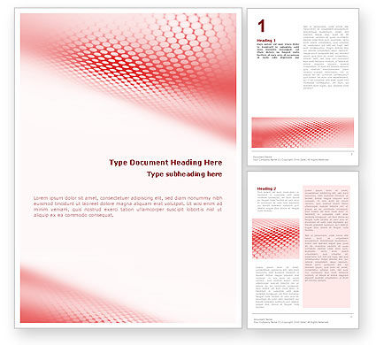 Abstract/Textures: Perforated Red Word Template #01754