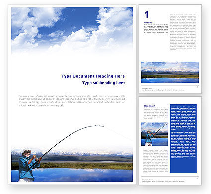 Sports: Sport Fishing Word Template #01756