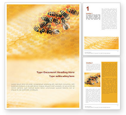 Agriculture and Animals: Cells and Bees Word Template #01757