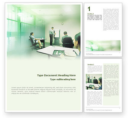 Consultative Word Template, 01759, Consulting — PoweredTemplate.com
