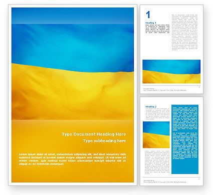 Flags/International: Ukrainian Flag Word Template #01760