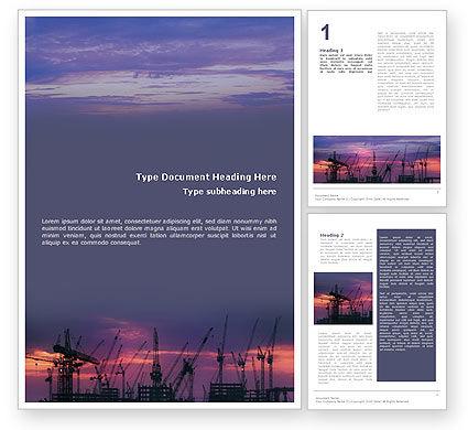 Industrial Word Template, 01761, Utilities/Industrial — PoweredTemplate.com