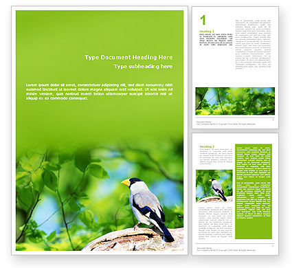 Agriculture and Animals: Gray Bird Word Template #01764