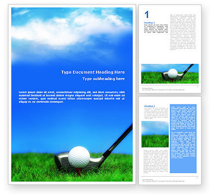 Sports: Golf Word Template #01768