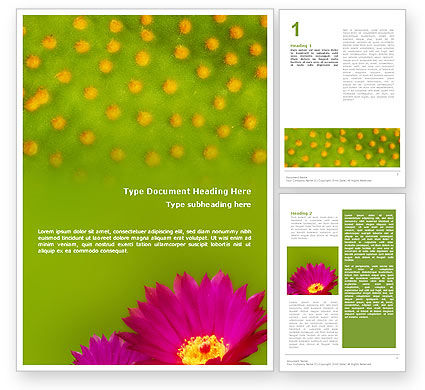 Nature & Environment: Bright Flower Word Template #01777