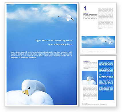 Agriculture and Animals: Swan Word Template #01797