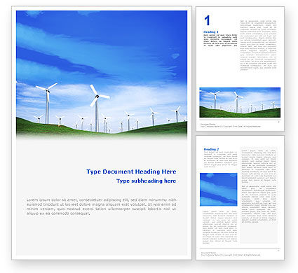 Wind Energy Word Template, 01801, Technology, Science & Computers — PoweredTemplate.com