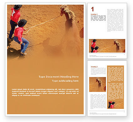 Rodeo Word Template, 01802, Agriculture and Animals — PoweredTemplate.com