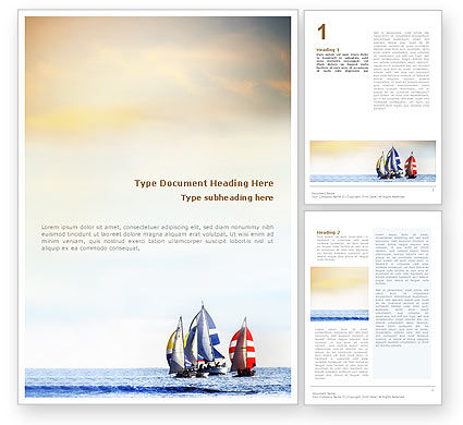 Sports: Sailing Word Template #01809