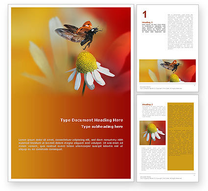 Nature & Environment: Ladybug Word Template #01812
