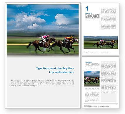 Sports: Horse Races Word Template #01813